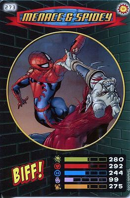 Spiderman Heroes And Villains Card #273 Menace & Spidey