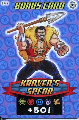 Spiderman Heroes And Villains Card #244 Kravens Spear