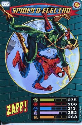 Spiderman Heroes And Villains Card #162 Spidey & Electro