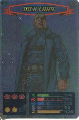 Spiderman Heroes And Villains Card #093 Nick Fury Foil