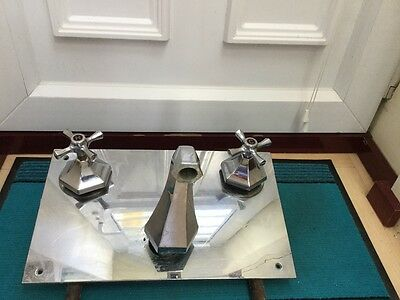 art deco wall mounted taps