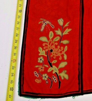 19th C. Qing [Ching] Dynasty Chinese Silk Embroidered Lady's Han Style Skirt