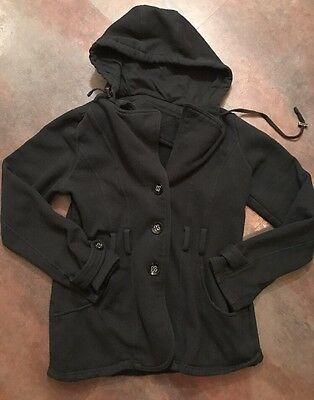 Women's MAURICES Black Hooded Jacket Size Large L