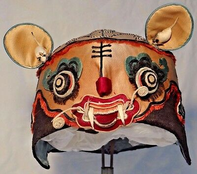 19th C. Qing [Ching]  Dynasty Chinese Silk Children's Tiger Hat