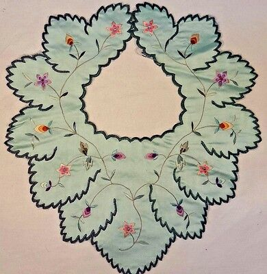 Early 20th Century Chinese Silk Embroidered Child's Petal Collar
