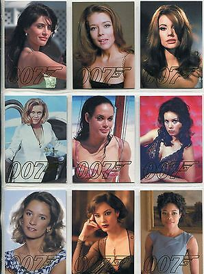 James Bond Autographs & Relics Complete Gold Gallery Chase Card Set GG39-GG47