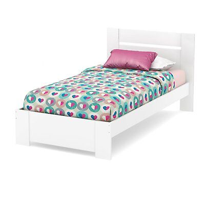 Reevo Twin Bed Set (39''), Pure White - 3840189