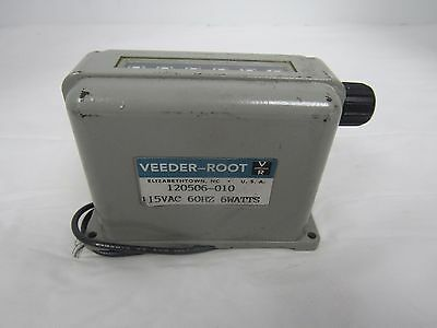 VEEDER-ROOT COUNTER 115VAC 60Hz 6WATTS 6 DIGIT 120506-010