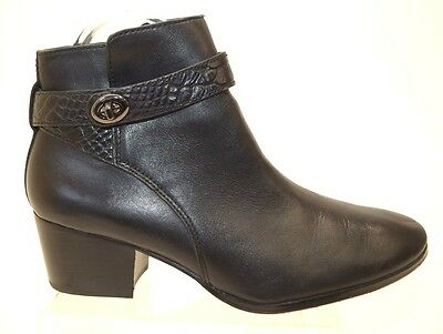 Coach NY PATRICIA Women's Black Leather BOOTIES Size 8B