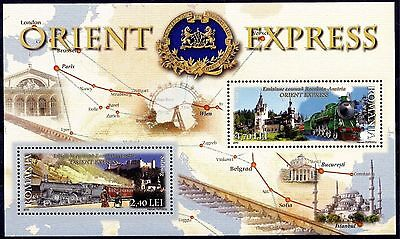 Romania 2010 Trains Orient Express Railways Station Map Joint Issue Austria MNH
