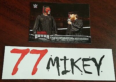 2017 Wwe Trading Cards  Pick 1 From The List  Daniel Bryan Tribute