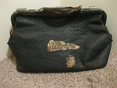 Vintage Doctor's Leather Bag Bliss College Genuine Sea Walrus