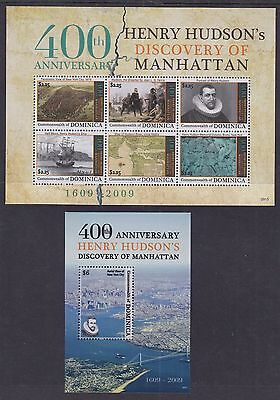 Dominica 2009 Mint MNH 2 Minisheets 400th Ann. Henry Hudson Discovery Manhattan