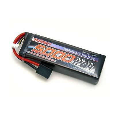 Tenergy 31289 11.1V 5000mAh 25C LIPO Battery Pack w/ Traxxas Connector