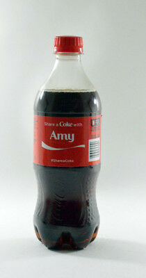 Share a Coke with Amy 20 fl oz Collectible Bottle Rare Unopened Coca-Cola
