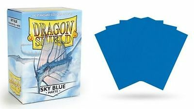 Deck Box / Deckbox -100 Standard size Card Sleeves Dragon Shield Sky Blue Matte