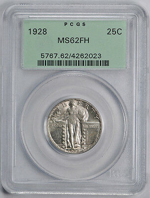 1928 Standing Liberty Quarter PCGS MS 62 FH Full Head OGH Exceptional Coin 25c