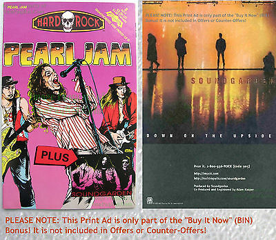 Pearl Jam + Soundgarden ☆ Hard Rock Comics #8 ☆ 1st Print Archive Copy ☆ Comic +
