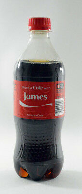 Share a Coke with James 20 fl oz Collectible Bottle Rare Unopened Coca-Cola