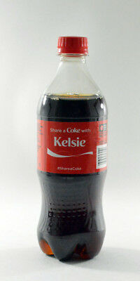Share a Coke with Kelsie 20 fl oz Collectible Bottle Rare Unopened Coca-Cola