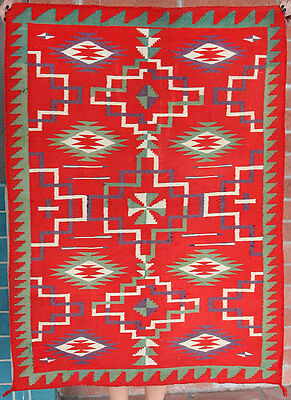 c. 1890 Navajo Germantown Double Saddle Blanket