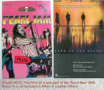 Pearl Jam + Soundgarden ☆ Hard Rock Comics #8 ☆ VHTF 2nd Print ☆ Comic +BIN Bonu