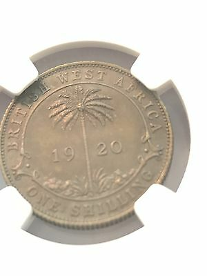 British West Africa 1920g Shilling NGC AU55, Only 2 Graded, Less Than 20 Known
