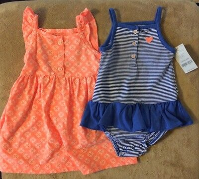 2 Carter's Baby Girl outfits, size 12 months