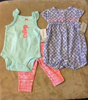 Carter's  Baby girl summer outfits, size 3 months