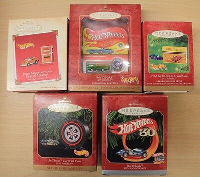 5 HALLMARK KEEPSAKE Hot Wheels ORNAMENT LOT
