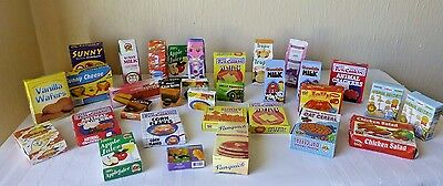 Play Pretend Cardboard Food Boxes Toy Grocery Store Food Lot of 32 Pieces
