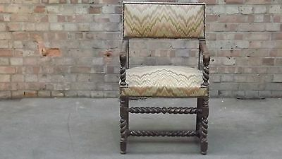 Late 17th Century Open Armchair With Bargello Upholstery