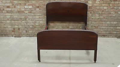 Fabulous Small Double Bed Wooden Boards Metal Frame 4FT Wide