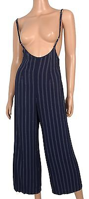 Vtg 80s PALAZZO PANTS Spaghetti Strap JUMPSUIT One Piece Catsuit Overalls - XS/S