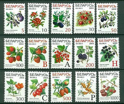 Belarus Scott #493-507 MNH Fruit Flora CV$4+