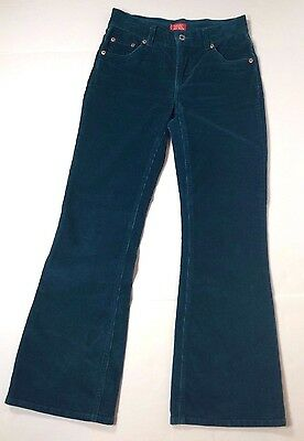Levis for Girls Size 14 Blue Green Corduroy Pants C4