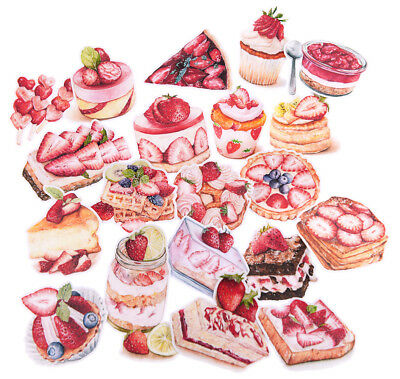 20 piece Strawberry season waterproof stickers for junk bullet journal laptop