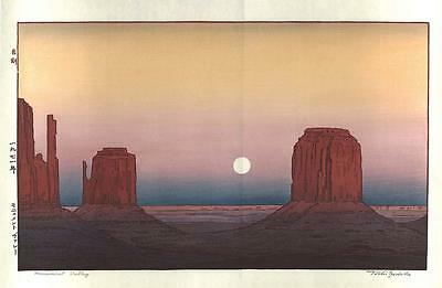 Yoshida Toshi - Monument Valley - Japanese Woodblock Print