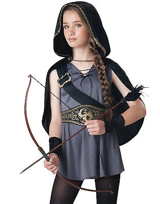 Hooded Huntress Snow White And The Huntsmen Girls Halloween Party Costume S