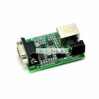 Serial RS232 To TCP/IP Ethernet Converter Module HTTPD Client Over LAN or WAN