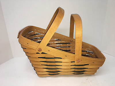 Longaberger New Medium Vegetable Basket, #16713 Heartland, Plastic Liner 1998