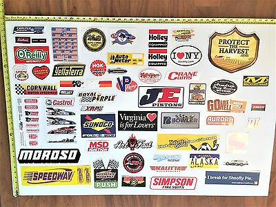 Lot of 55 Various Racing / Automotive - Decals & Stickers