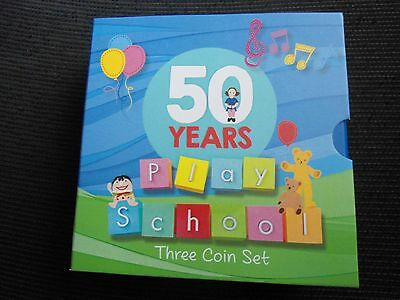 2016 50th Anniversary of Play School Three Coin Set 50c Coloured Coins