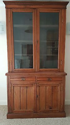 Large Glass Fronted Bookcase And Cupboard Victorian Georgian?  (Worthing)