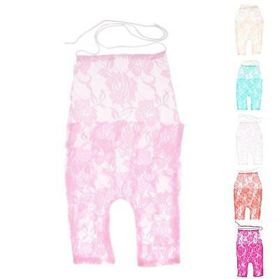 Newborn Baby Girl Bodysuit Romper Lace Floral Photography Photo Props Costume JJ