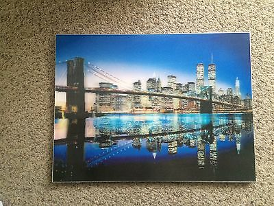 3D Picture Of New York At Night