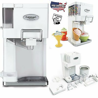 Soft Serve Ice Cream Maker Automatic Electrical Sorbet Cuisinart Machine Yogurt