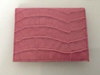 Pocket Size Easy Spirit Credit Card ID Business Card Holder Pink NOS with Tag