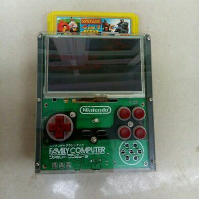 FC handheld 4.3 inch spark red and white machine FC yellow card game DIY