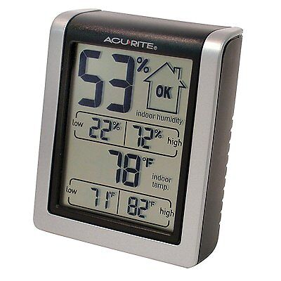 Digital Thermometer/Hygrometer Indoor Humidity Monitor, High & Low Temperature